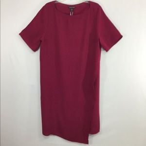 Eileen Fisher Hibiscus Silk Georgette Dress NWT